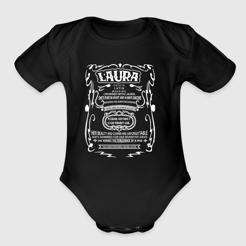 Personalized Name Tee Shirts - Short Sleeve Baby Bodysuit