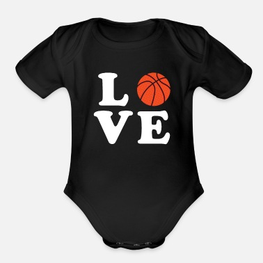 I Love Basketball I love Basketball - Organic Short-Sleeved Baby Bodysuit