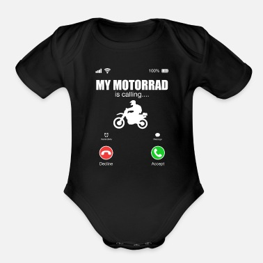 Motorcycling Motorcycle - Organic Short-Sleeved Baby Bodysuit