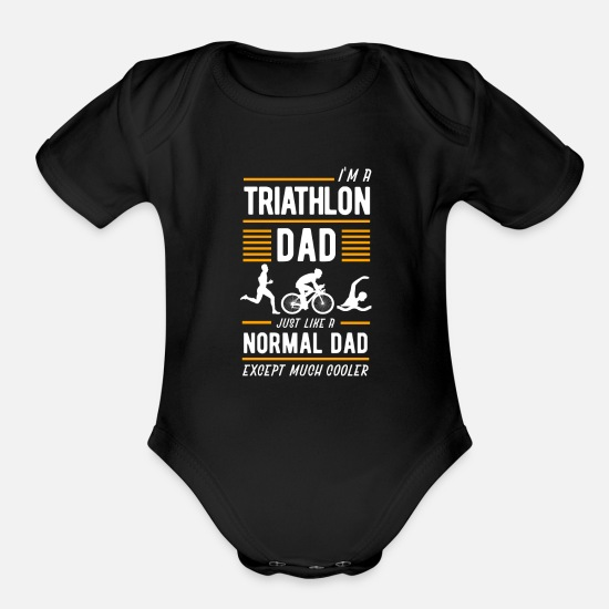 Triathlon Baby Clothing - Triathlon - Organic Short-Sleeved Baby Bodysuit black