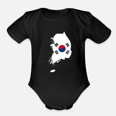 South Korea South Korea - Organic Short-Sleeved Baby Bodysuit