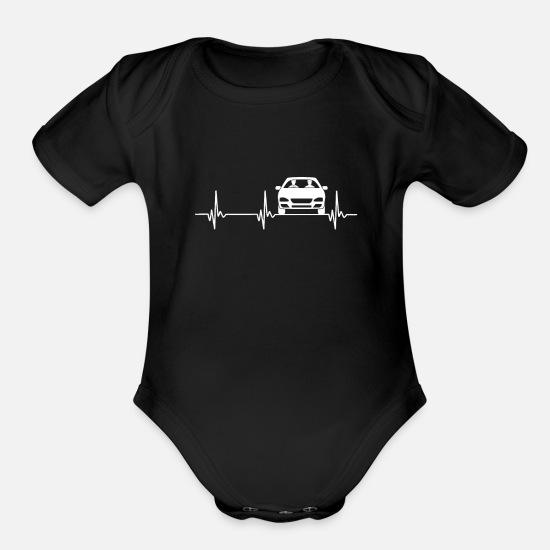 Gift Idea Baby Clothing - car - Organic Short-Sleeved Baby Bodysuit black