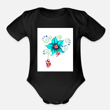 Bloom Blooms - Organic Short Sleeve Baby Bodysuit