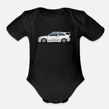 Ford Ford Escort Mark V RS Cosworth - Organic Short Sleeve Baby Bodysuit