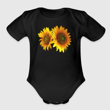 Sunflowers - I've Got Your Back - Short Sleeve Baby Bodysuit