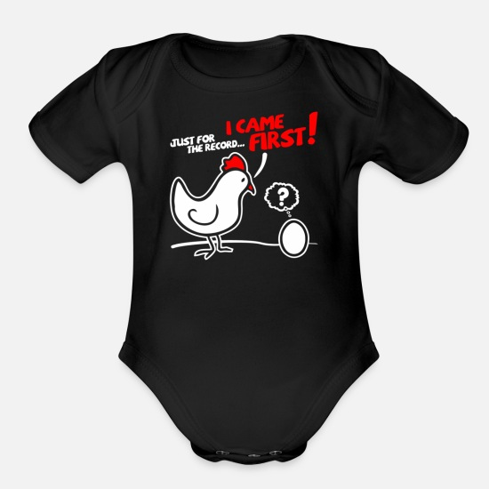 Movie Baby Clothing - Just for the Record - Organic Short-Sleeved Baby Bodysuit black