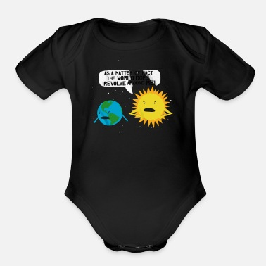 Revolver World Revolves - Organic Short Sleeve Baby Bodysuit