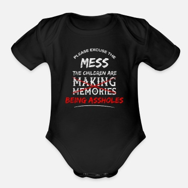 Provocation Asshole Sarcasm Sarcastic Provocation Insult - Organic Short Sleeve Baby Bodysuit