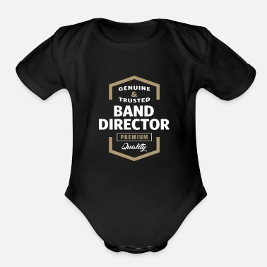 Bandera Band Director - Organic Short Sleeve Baby Bodysuit