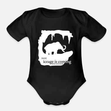 Climate Change Mammoth - Organic Short-Sleeved Baby Bodysuit
