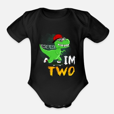 2nd birthday kids dinosaurt rex2nd birthday boy shirt organic short sleeve