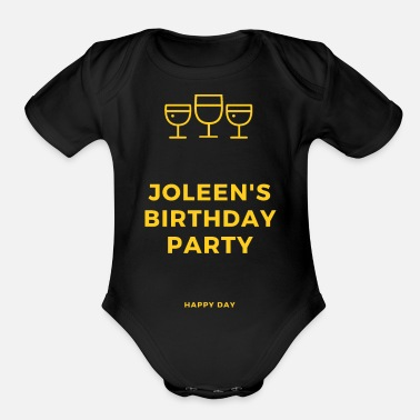 Birth Name Birth name - Organic Short-Sleeved Baby Bodysuit