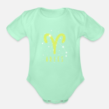 Astrology Star sign Aries Aries - Organic Short-Sleeved Baby Bodysuit