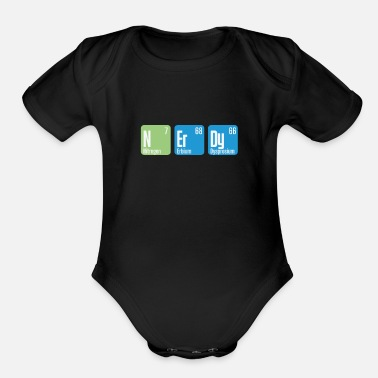 Intelligent Nerdy chemistry periodic table - Organic Short-Sleeved Baby Bodysuit