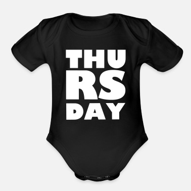 Thursday Thursday - Organic Short-Sleeved Baby Bodysuit
