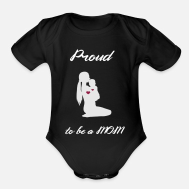 Ski Mothersday Proud Mom Mummy Love Respect TEAM Mom - Organic Short-Sleeved Baby Bodysuit