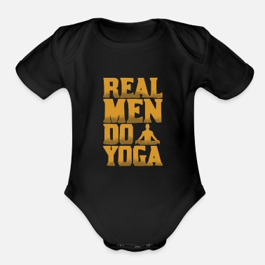 Yoga Zen Namaste Meditation - Organic Short-Sleeved Baby Bodysuit