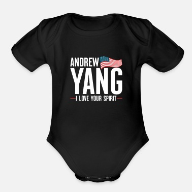 Candidacy Andrew Yang USA Flag President Election Cool Gift - Organic Short-Sleeved Baby Bodysuit