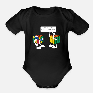 Cube Rubik's Cube Complicate Things - Organic Short-Sleeved Baby Bodysuit