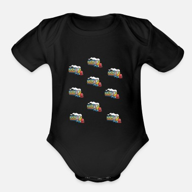 Toy Kids train children locomotive - express train - Organic Short-Sleeved Baby Bodysuit