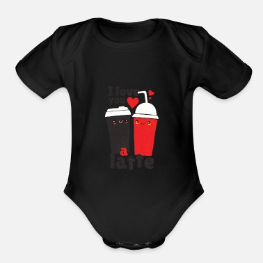 Couple Love Valentines Day Partner Couple Relationship - Organic Short-Sleeved Baby Bodysuit