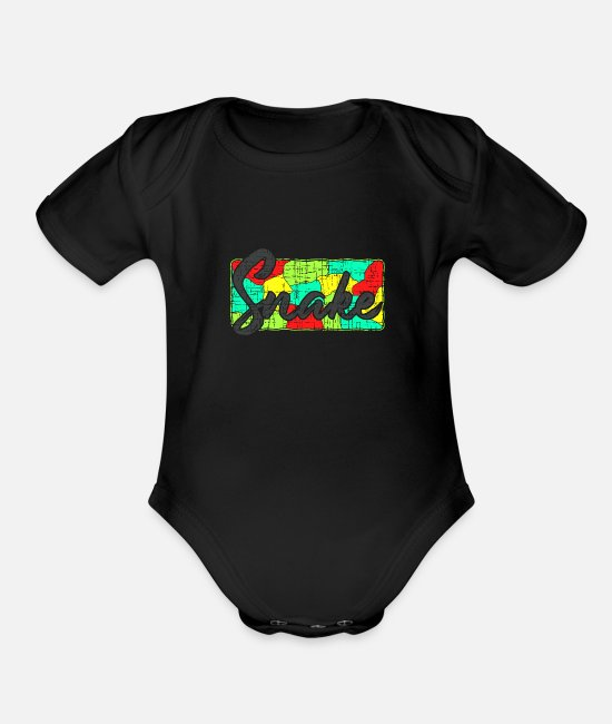 Cobra Baby One Pieces - Snake Christmas Birthday Gift Idea - Organic Short-Sleeved Baby Bodysuit black