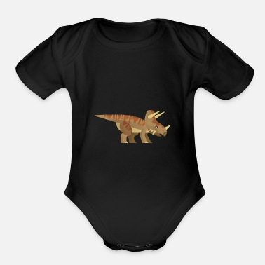 Triceratops Triceratops - Organic Short-Sleeved Baby Bodysuit
