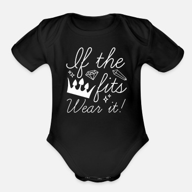 Bling Bling If The Crown Fits - Organic Short-Sleeved Baby Bodysuit