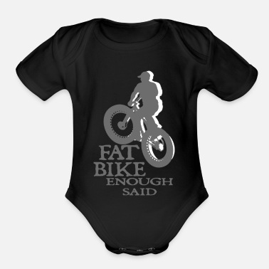 Fat FAT BIKE TSHIRT - Organic Short-Sleeved Baby Bodysuit