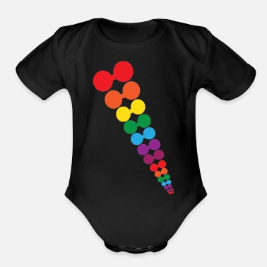 Long Bow rain bow - Organic Short-Sleeved Baby Bodysuit