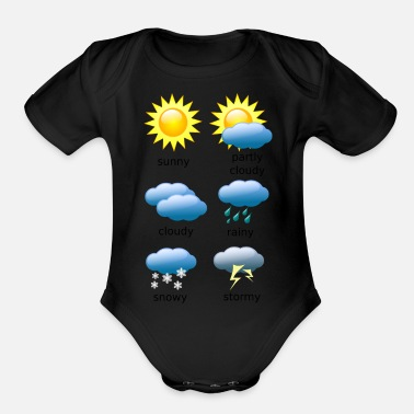 Weather Weather Chart - Organic Short-Sleeved Baby Bodysuit