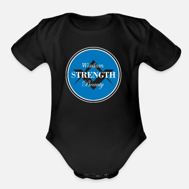 Pillars Freemason Shirt - Three Pillars - Organic Short-Sleeved Baby Bodysuit