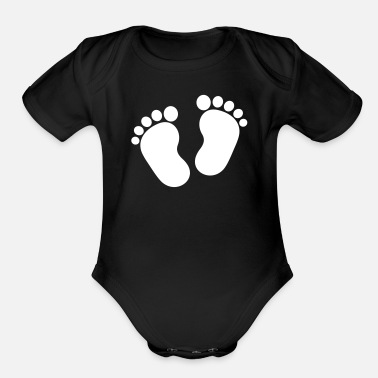 Feet Feet - Organic Short-Sleeved Baby Bodysuit