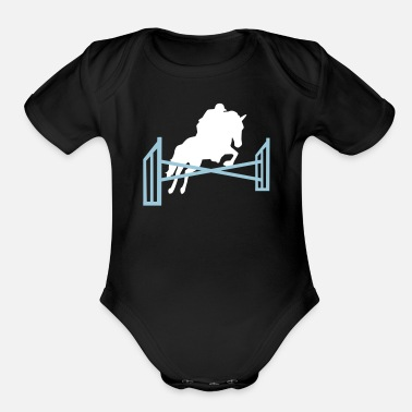 Show Jumping Show jumping - Organic Short-Sleeved Baby Bodysuit