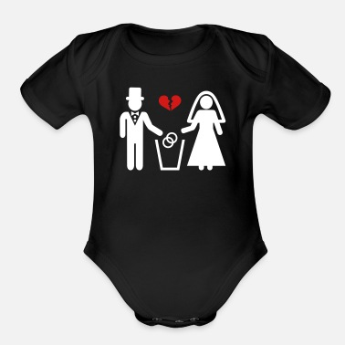 Divorce Divorce - Organic Short-Sleeved Baby Bodysuit