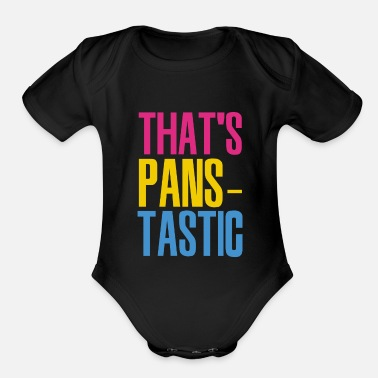 Gay Pride Pansexual Bisexual LGBT Pride Flag Gift For Pan - Organic Short-Sleeved Baby Bodysuit