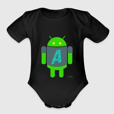 Android A for Android - Organic Short Sleeve Baby Bodysuit