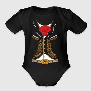 Mexican Mariachi Charro Suit - Organic Short Sleeve Baby Bodysuit
