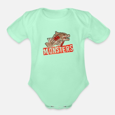 Monsters Illustration - Organic Short-Sleeved Baby Bodysuit