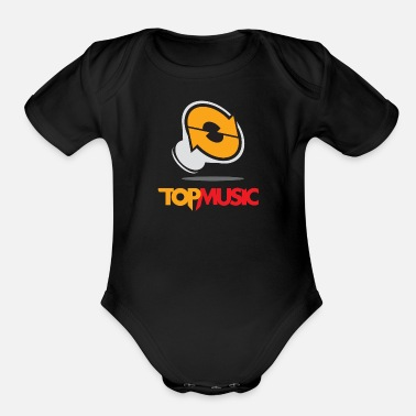 Music Club Top Music Club Logo - Organic Short-Sleeved Baby Bodysuit