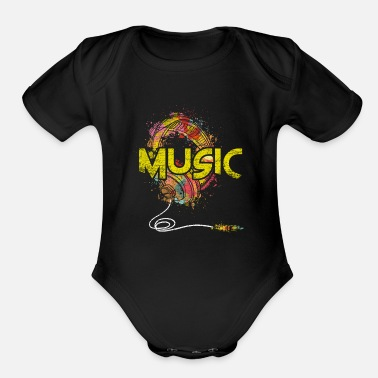 Music Club Music Genre Music Is Life Music Club Musical Gift - Organic Short-Sleeved Baby Bodysuit