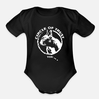 German Shepherd French Bulldog funny gift shirt - Organic Short Sleeve Baby Bodysuit