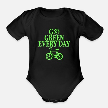 Eco Go Green Every Day Environmental Eco Recycling - Organic Short Sleeve Baby Bodysuit