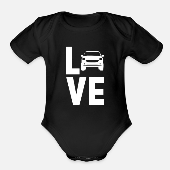 Love Baby Clothing - Driving - Organic Short-Sleeved Baby Bodysuit black