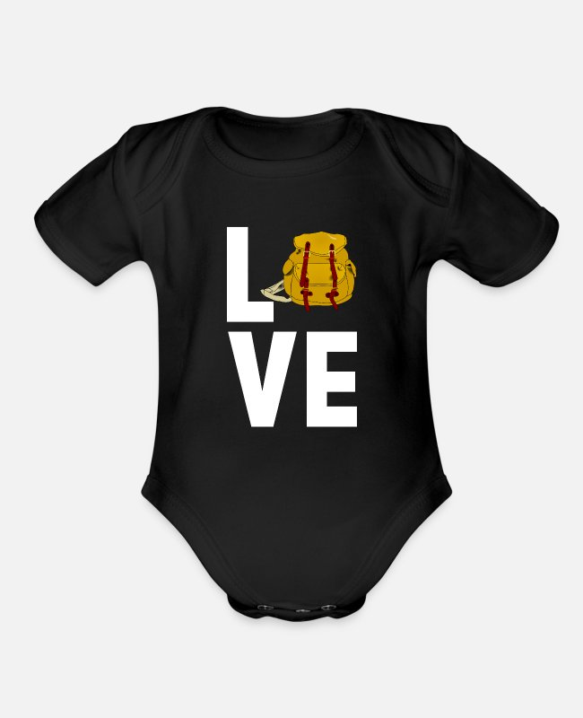 Travel Bug Baby One Pieces - Travel - Organic Short-Sleeved Baby Bodysuit black