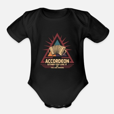 Classical accordion - Organic Short-Sleeved Baby Bodysuit
