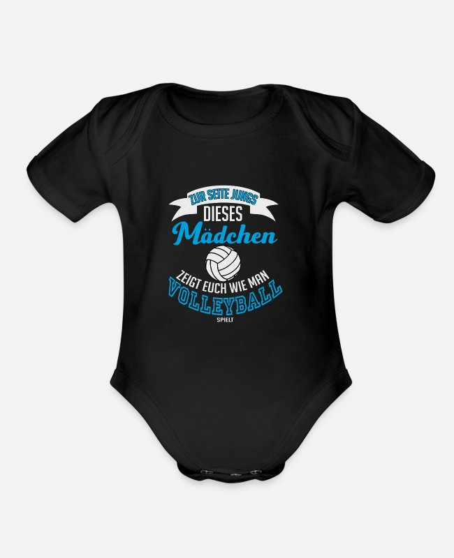 Ball Baby One Pieces - Volleyball Game Team Sport Olympic Paralympic Gift - Organic Short-Sleeved Baby Bodysuit black
