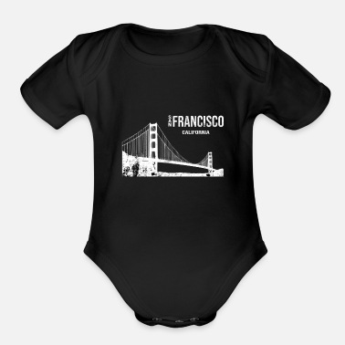 San Francisco San Francisco Bridge Metropolis Nevada Usa Gift - Organic Short-Sleeved Baby Bodysuit