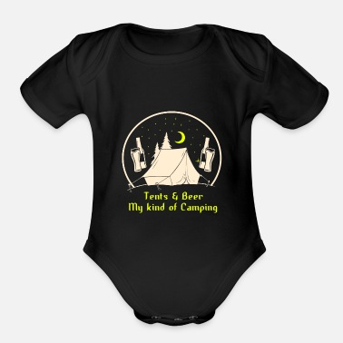 Beer Tent Tents & beer! - Organic Short-Sleeved Baby Bodysuit