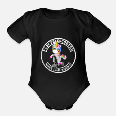Scooter E-Scooter Escooter Electricscooter Unicorn - Organic Short Sleeve Baby Bodysuit